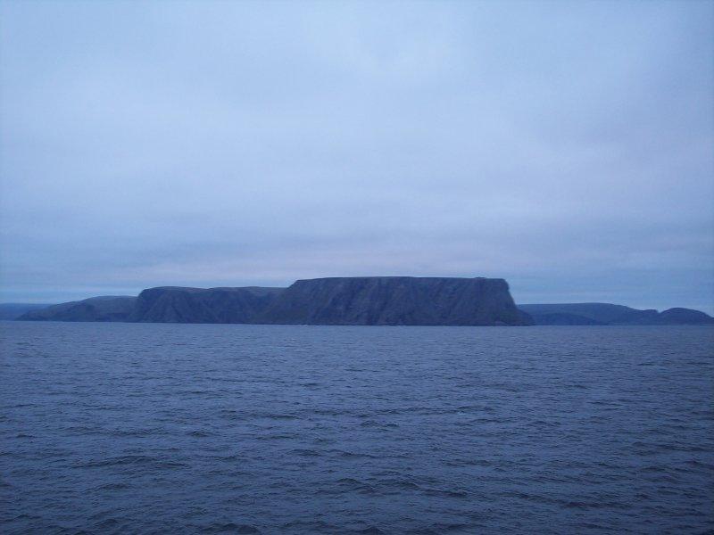 Das Nordkap vom Schiff aus gesehen
